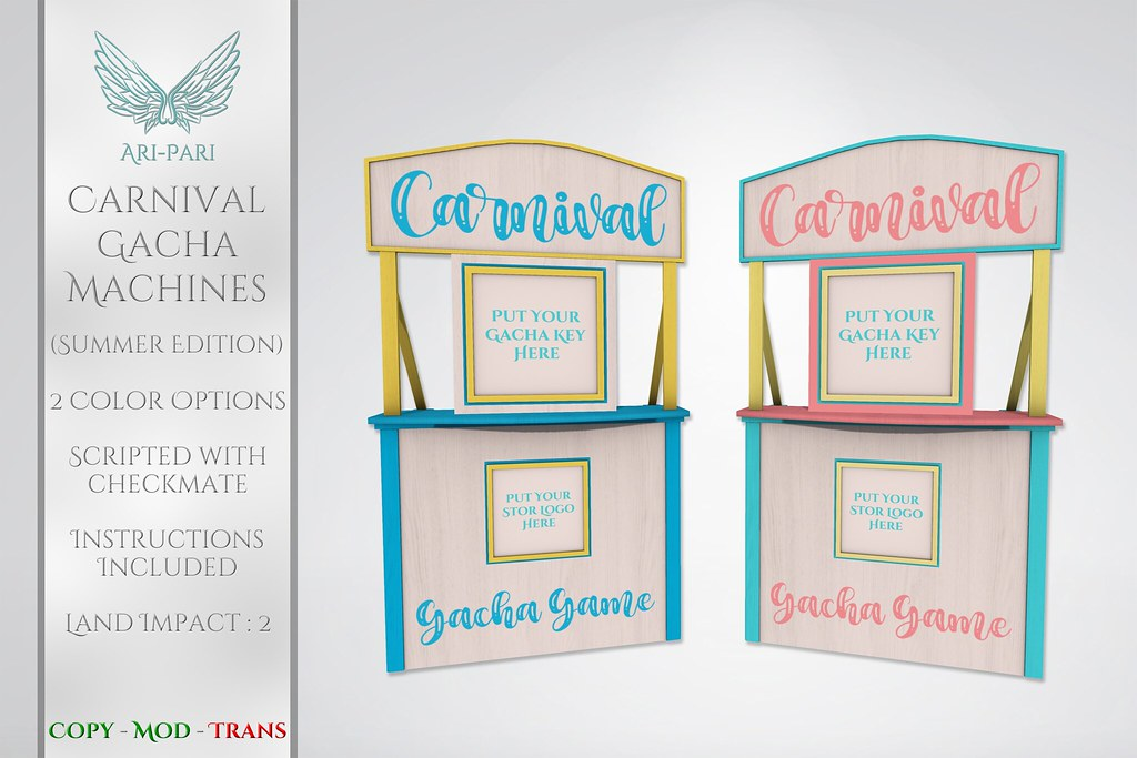 [Ari-Pari] Carnival Gacha Machines
