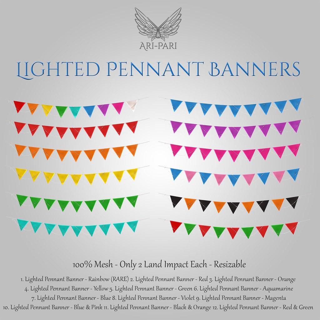 [Ari-Pari] Lighted Pennant Banner Gacha