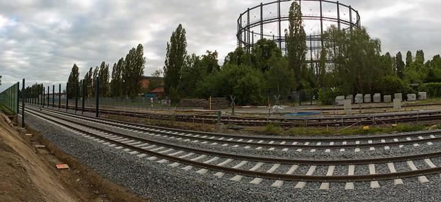 Berlin Baustelle Dresdner Bahn 13.6.2021 Panorama