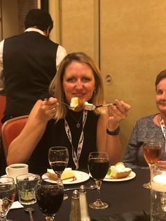 Erin Lee (HeaterMeals) and Karen Morgan (Corp. Chefs) Yucking it up!