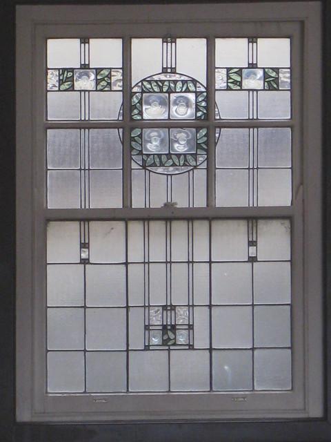 An Art Nouveau Stained Glass Window - Mount Buffalo Chalet