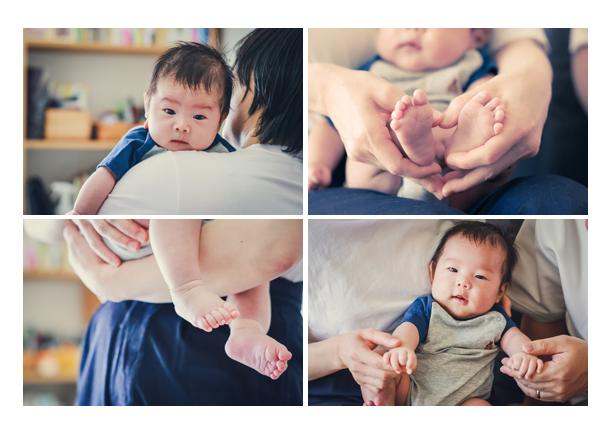 100日祝い ご自宅へ出張撮影 男の子赤ちゃん