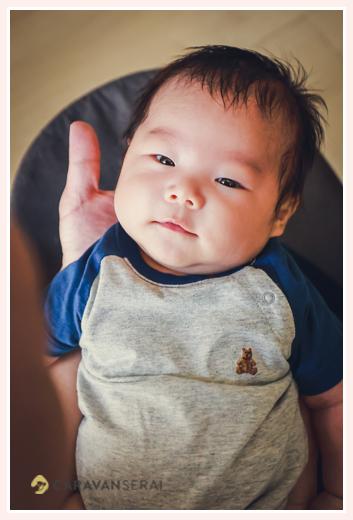ニッコリ笑顔の赤ちゃん