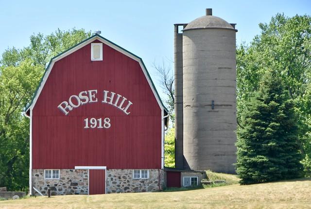 Barn and silo - Rose Hill Farm
