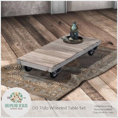 DD Thilo Wheeled Table SetAD