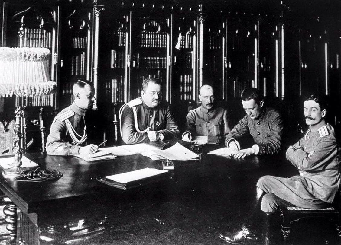 1917. Заседание военного министерства Временного правительства 4 состава.