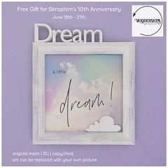 Widdershins - Dream a little -Frame- SeraphimSL Group Gift