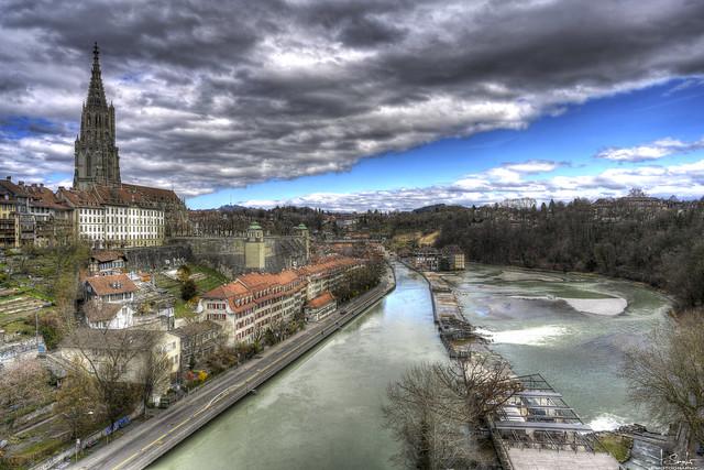 View from the Kirchenfeld bridge - Bern City - Switzerland