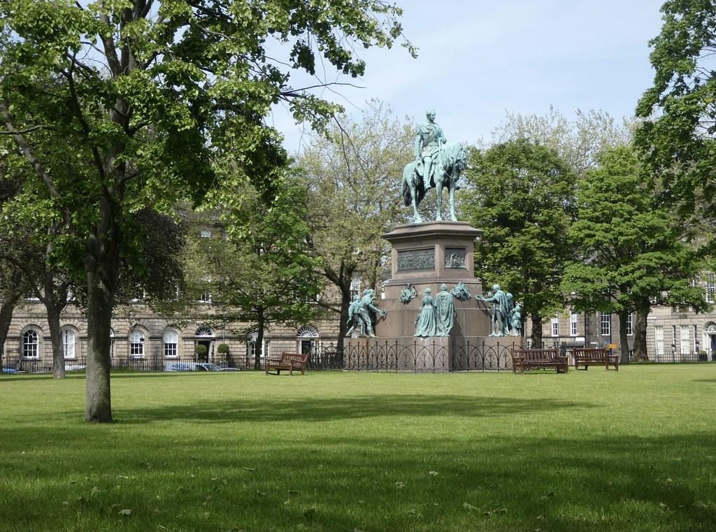 Statue of Prince Albert, Charlotte Square, Edinburgh
