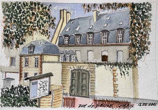 Depuis le square rue de Seine Paris