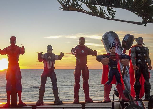 Superheros at Sunset