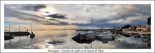 Bouzigues - Coucher de soleil sur la bassin de Thau *