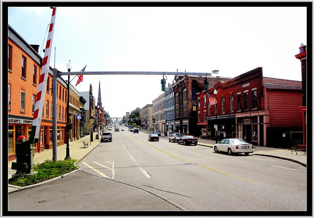 Albion - New York - Historic Main Street From RR Track