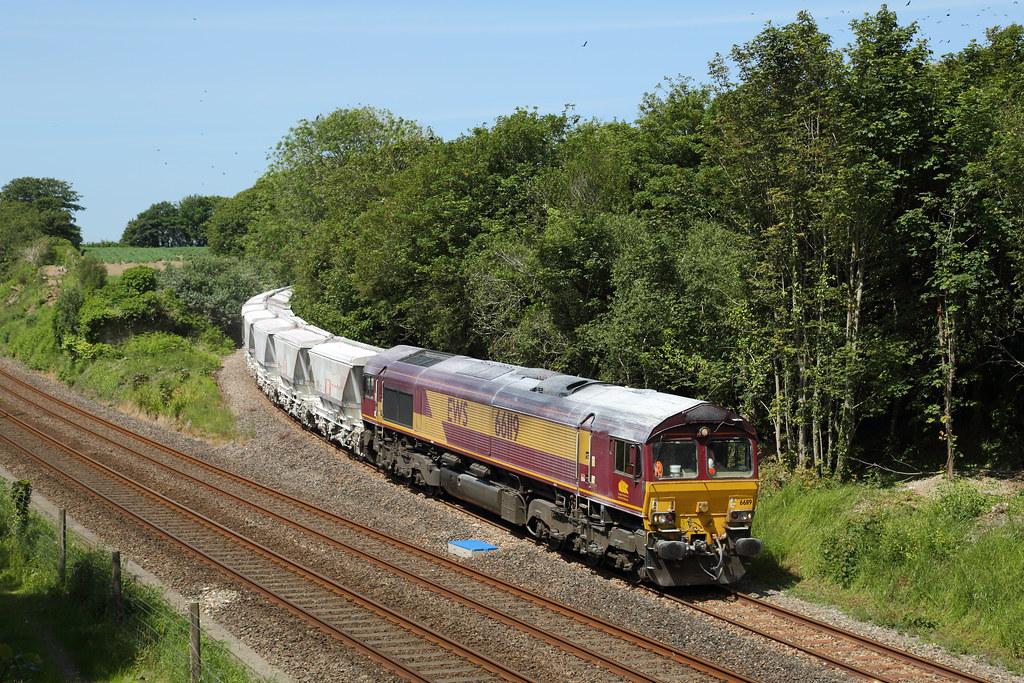 66119 at Burngullow Junction