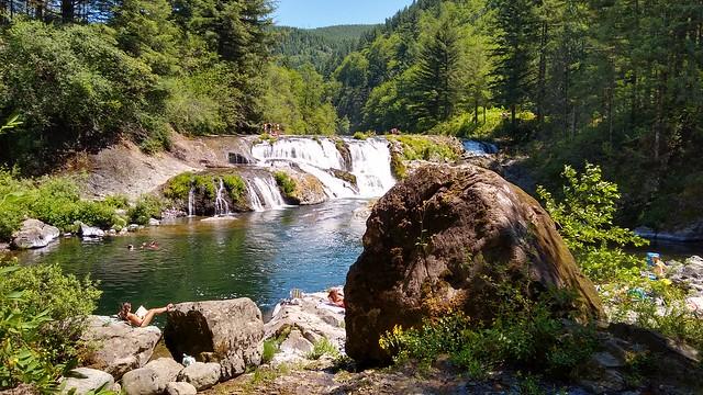 Reading at Dougan Falls Waterfall