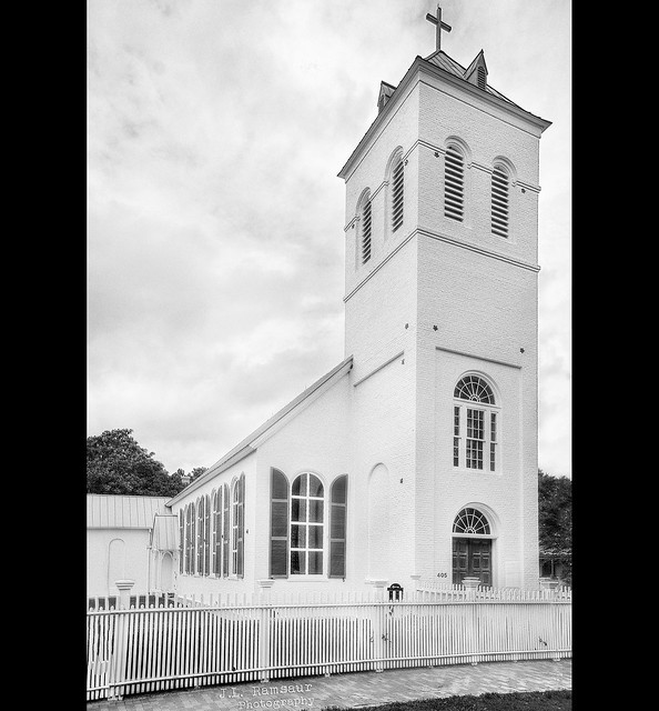 Old Christ Church - Pensacola, Florida in B&W