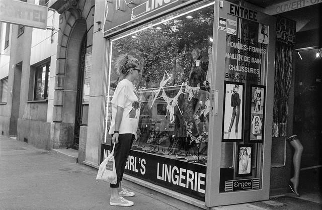Lingerie, shop, Paris, France, 1990, 90-89-35