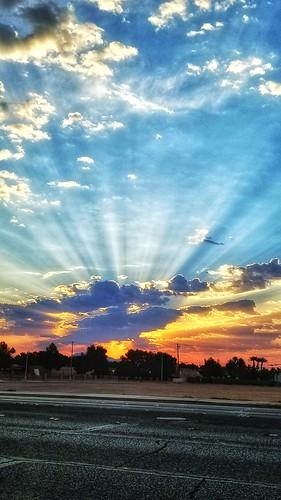 sunriselasvegassunrays cloudscloudscapeskyscapesky samsunggalaxys8 cellphonephoto