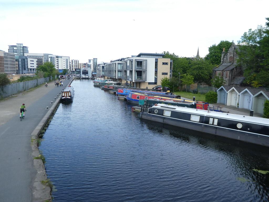 Union Canal moorings, Edinburgh