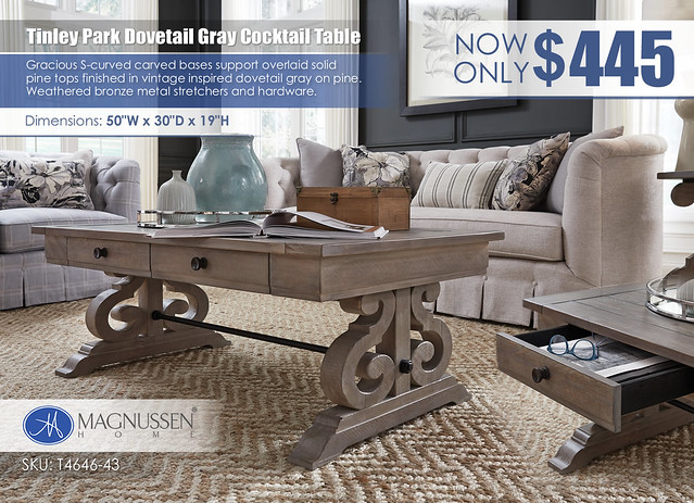 Tinley Park Dovetail Gray Cocktail Table_T4646_43_June2021
