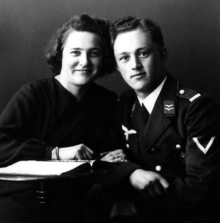 A handsome German couple during WW2