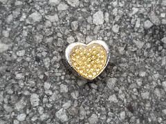 Front And Back Of 3D Heart IRL Found On Ground Union Square NYC Jun 2021