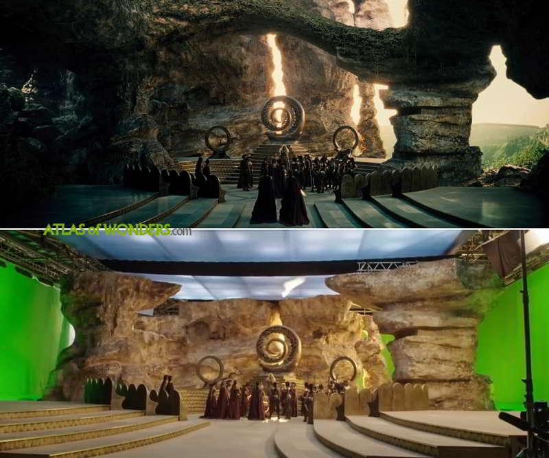 The Island of Themyscira set