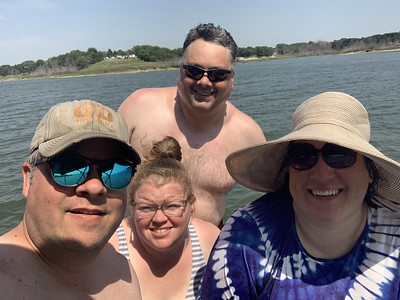 Erin, Greg, Carrie and I on our Camping Weekend