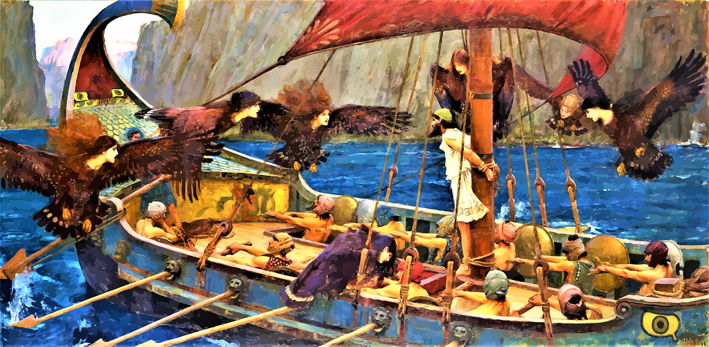 WATERHOUSE - Ulises y las_Sirenas (National Gallery of Victoria, Melbourne, 1891