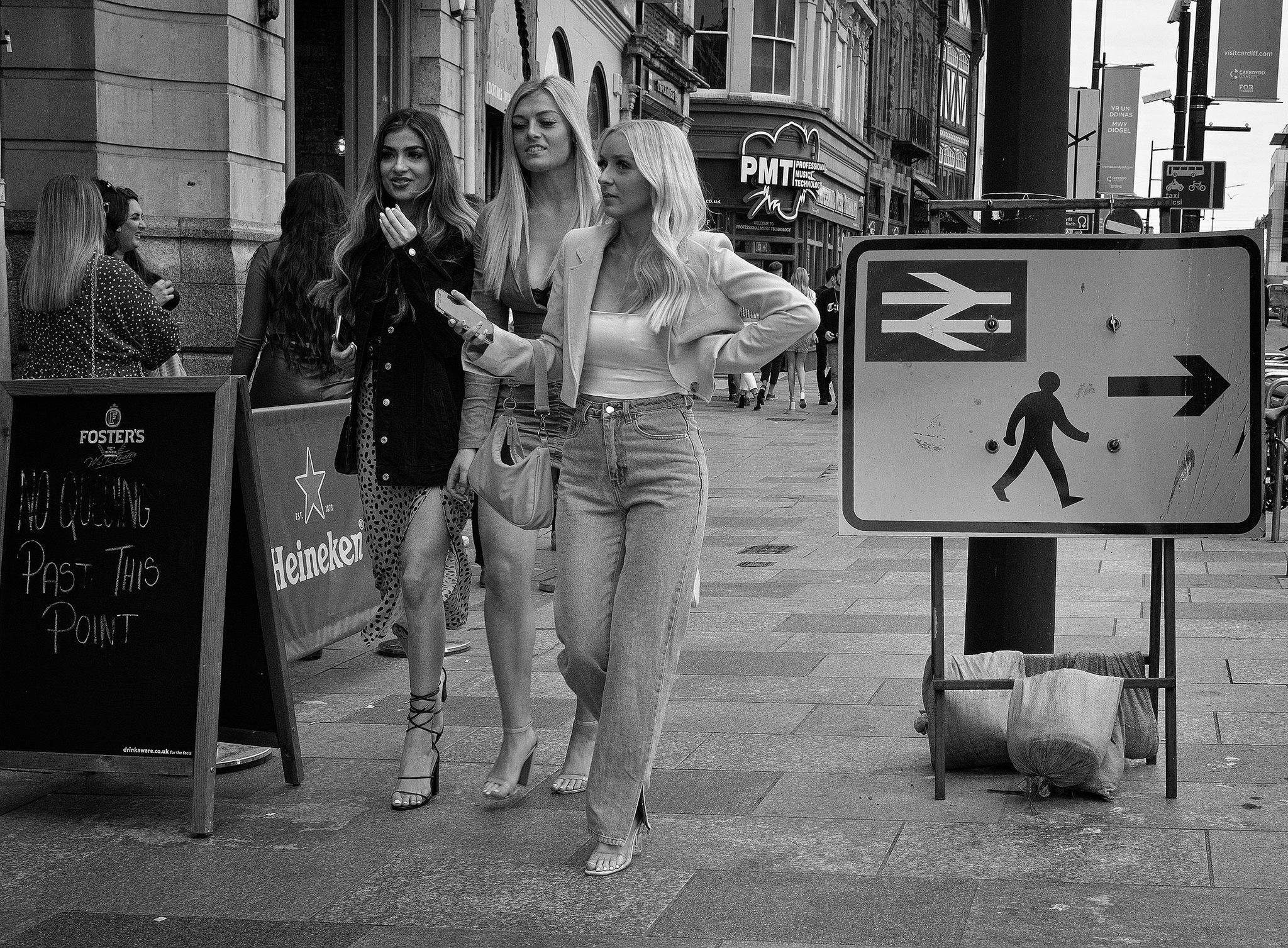 Walk this way ladies
