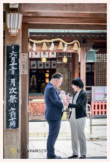 初夏のお宮参り 名古屋市で人気の神社、城山八幡宮へ