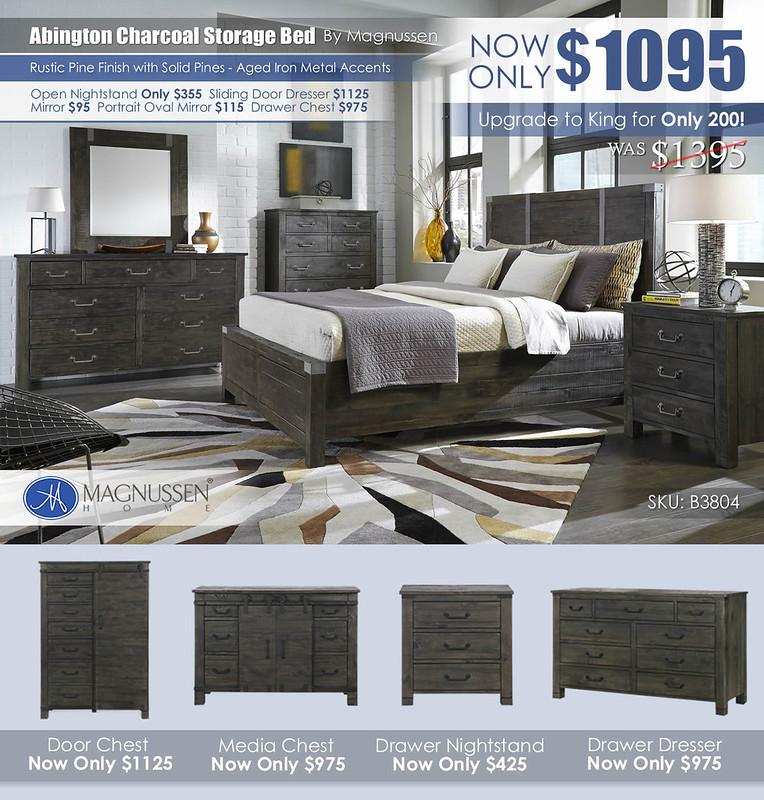 Abington Charcoal Rustic Storage Bed B3804_June2021