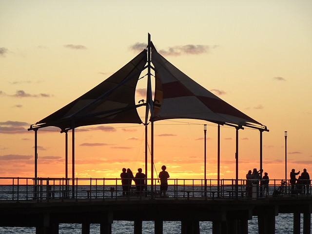Jetty Shelter at Sunset