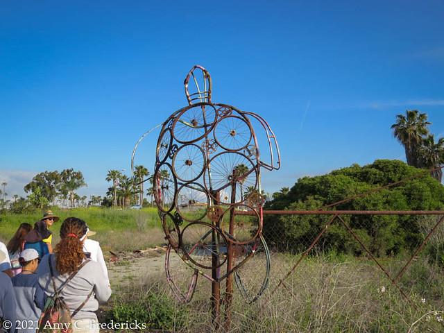 Long Beach CA - Los Cerritos Wetlands - Turtle Sculpture