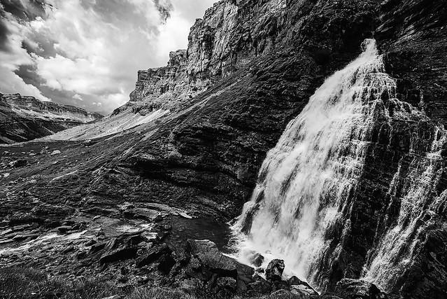 Ordesa horse tail waterfall.