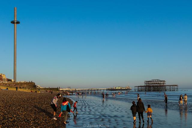 Sunset at Brighton beach 2021
