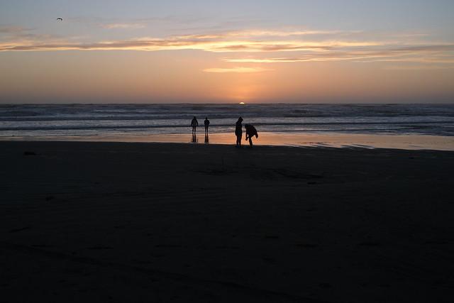 Sunset at Himatangi beach