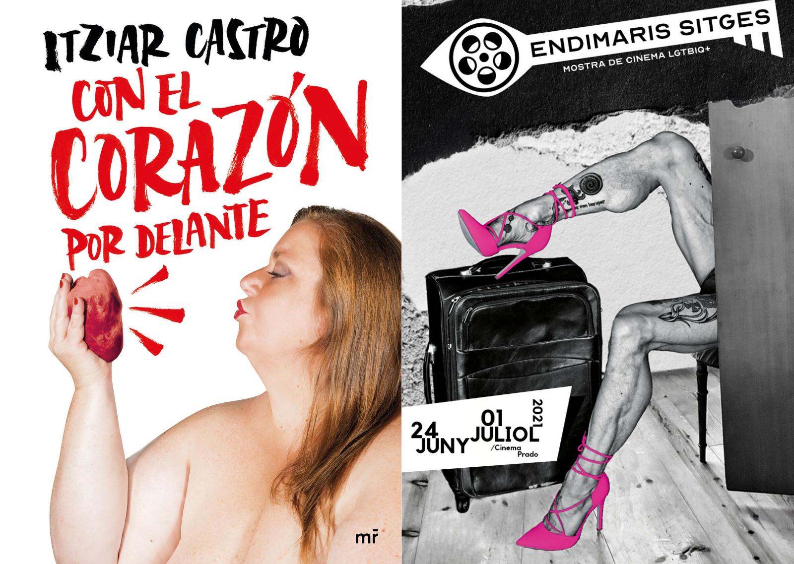 Itziar Castro (Vis a Vis) en Sitges para la muestra Endimaris y firmar libros