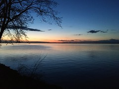 Philipsburge lake at sunset