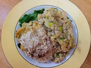 Leek and Barley Gratin with Cauliflower Cheese