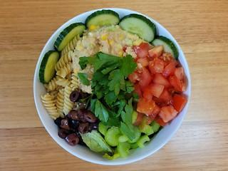 Chickpea Tuna Pasta Salad