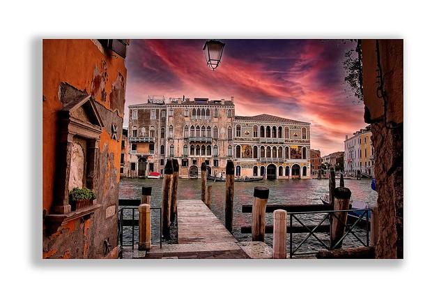 Venecia, al atardecer.