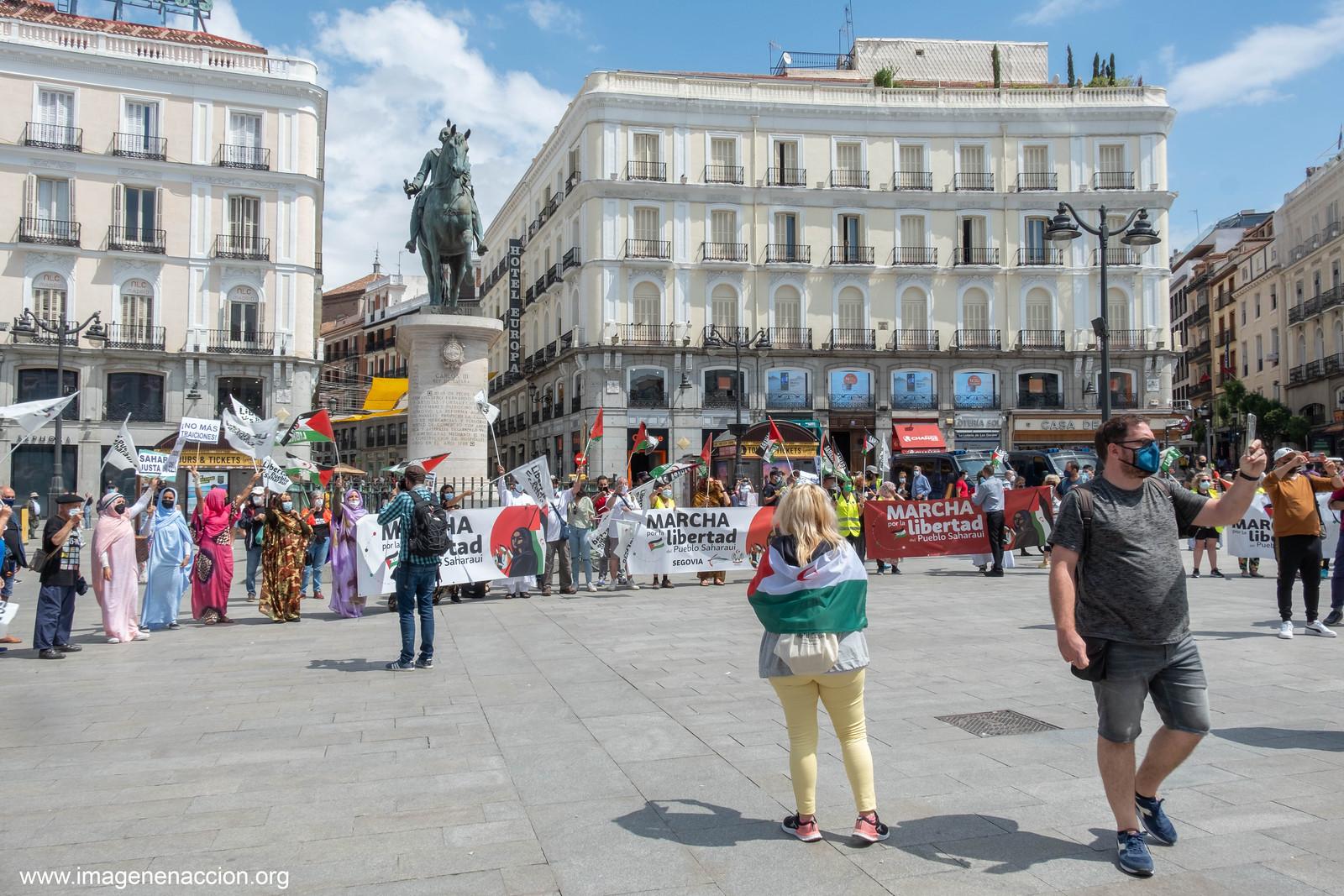 """FED. DE LA C.MADRID DE ASOCIACIONES SOLIDARIAS CON EL SAHARA  """"MARCHA POR LA LIBERTAD DEL PUEBLO SAHARAUI""""  LLEGADA A MADRID  """"EXTRAS"""""""