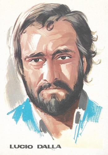 Lucio Dalla, portrait by F. Picchioni