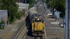 UP 1037 Leads a 22 Car LSF51 into CP Dumbarton u201cRedwood Jctu201d on 6/18/21
