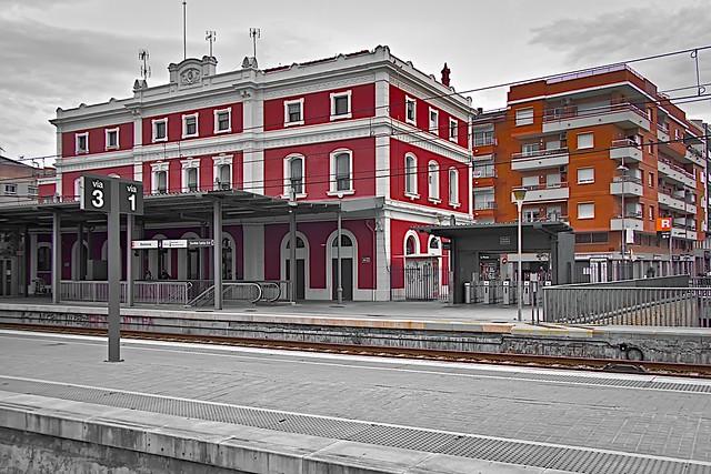 Badalona - The train station