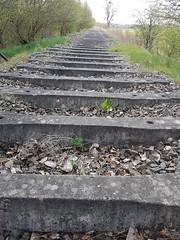 Hier fu00e4hrt nur noch die Geisterbahn. Only the ghost train runs here.