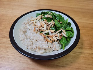 Oats with Sweet Grens and Almonds