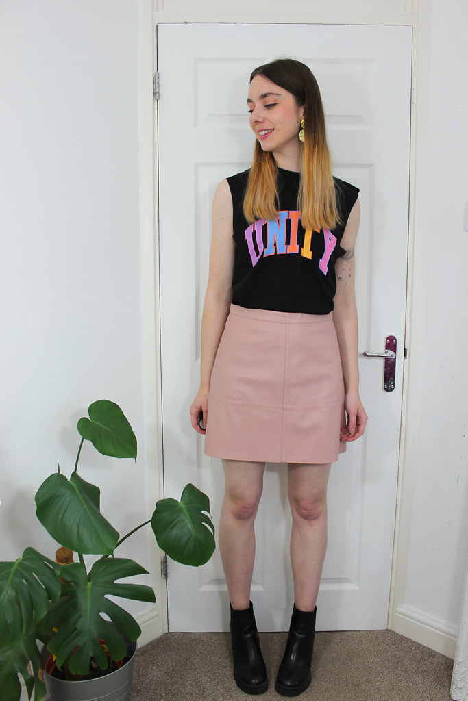 Glaad Unity Vest and a Leather Look Skirt 3