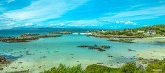 A little piece of paradise. The Arisaig/Morar coast at Portnaluchaig looking to the Cuillins of Skye.
